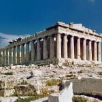 Der weltberühmte Parthenon in Athen.