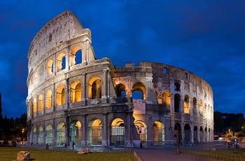 Das Colosseum in Rom.