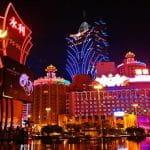 Die Glücksspielmetropole Macau bei Nacht.