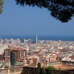 Die Skyline von Barcelona.