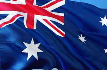 Die Australische Flagge.