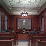 Der Saal eines US-Gerichts.