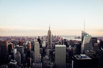 Die Skyline von New York City.