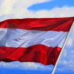 Die Flagge von Österreich.