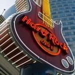 Eine Gitarre von Hard Rock International.