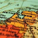 Eine Landkarte der Niederlande.