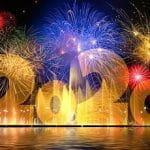 Ein Feuerwerk für das Jahr 2020.