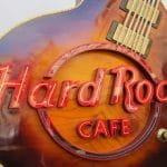 Das Logo eines Hard Rock Cafés.