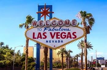 Das Eingangsschild der US-Casinostadt Las Vegas.