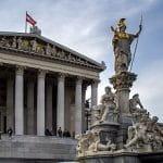 Das Parlamentsgebäude in Wien, Österreich.