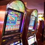 Die Spielautomaten einer Spielbank.