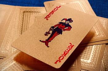 Eine aufgedeckte Joker-Spielkarte.