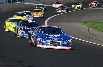 Ein Rennen der Stock-Car-Rennserie Nascar.