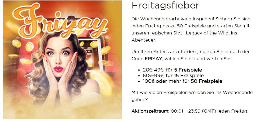 Casino.com FRIYAY Aktion.