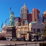 Die Casino-Freiheitsstatue von Las Vegas.