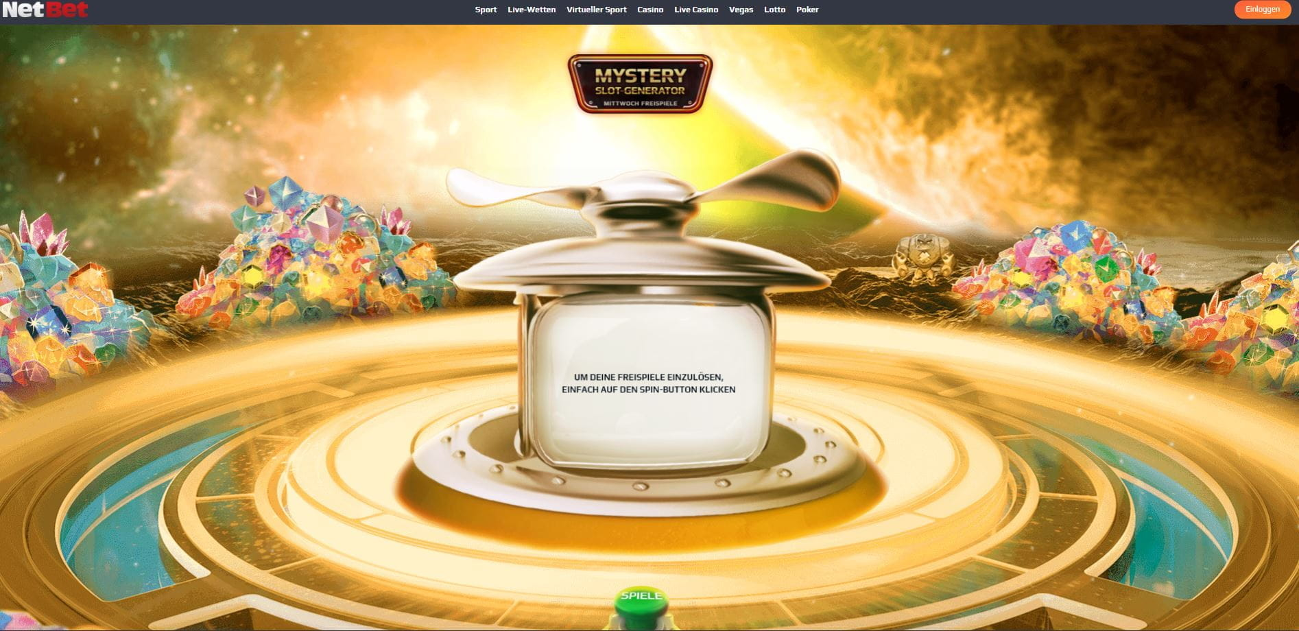 NetBet Aktion Mystery Freispiel Generator