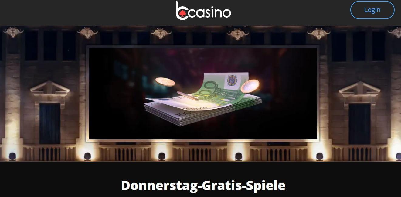 Donnerstag Gratisspiele im bCasino
