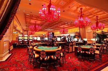 Die Spieltische eines Wynn-Casinos in Las Vegas.