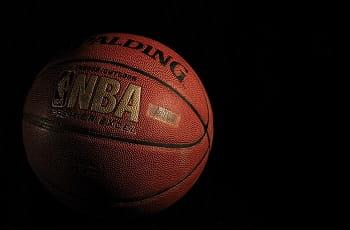 Ein Basketball der US-Basketballliga NBA.