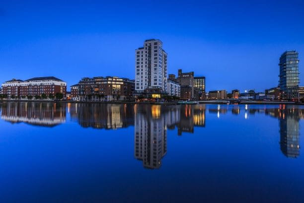 Skyline der Stadt Dublin.