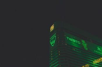 Das MGM Grand in Las Vegas bei Nacht.