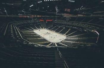 Ein Eishockeystadion der NHL.
