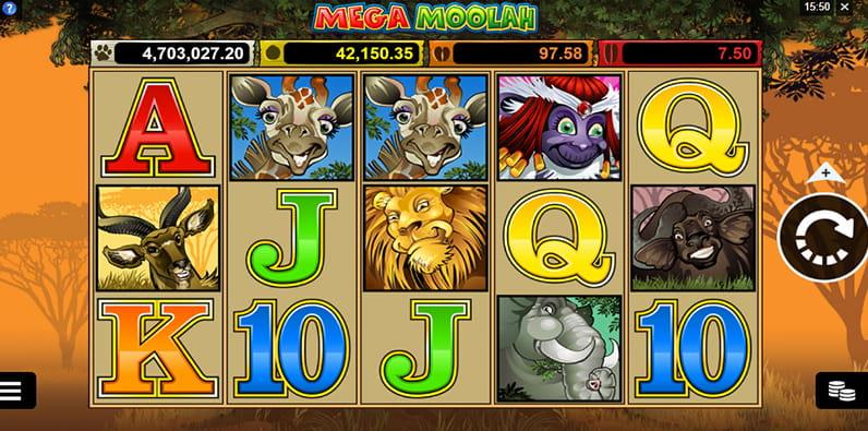 Mega Moolah ist der Top Jackpot Slot.