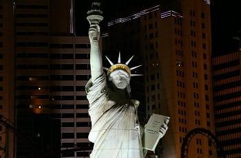 Die Freiheitsstatue des New York-New York-Casinos in Las Vegas.