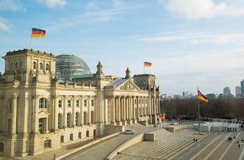 Der Deutsche Bundestag in Berlin.