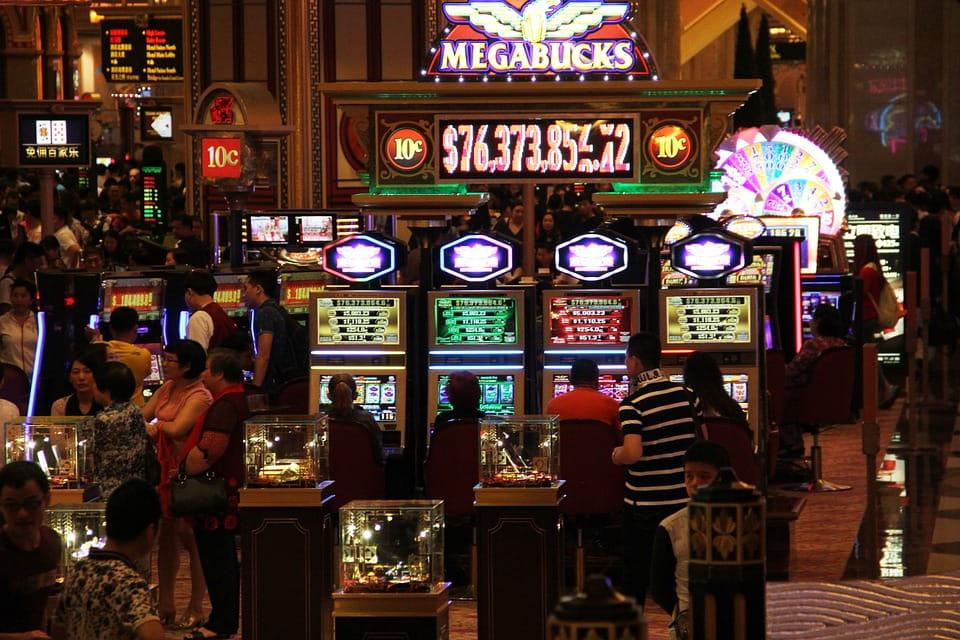 Eine Spielhalle in Macau.