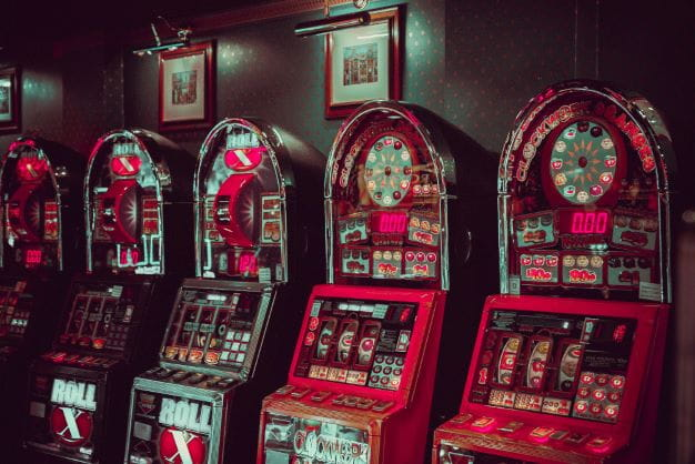 Aufnahme von unterschiedlichen Slot Automaten.