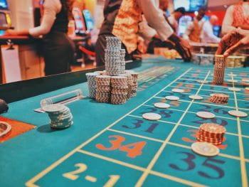 Tisch im Casino.