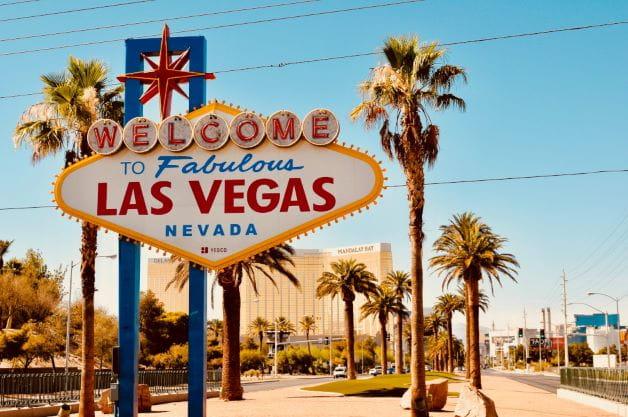 Las Vegas Nevada Schild – der Standort der WSOP 2021.