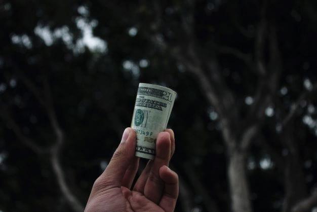 Der Geldbündel, welcher den Million-Gewinn symbolisiert.